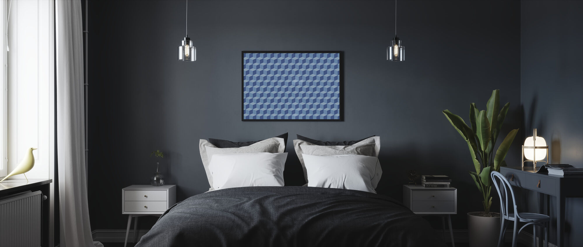 Wall of Boxes - Framed print - Bedroom