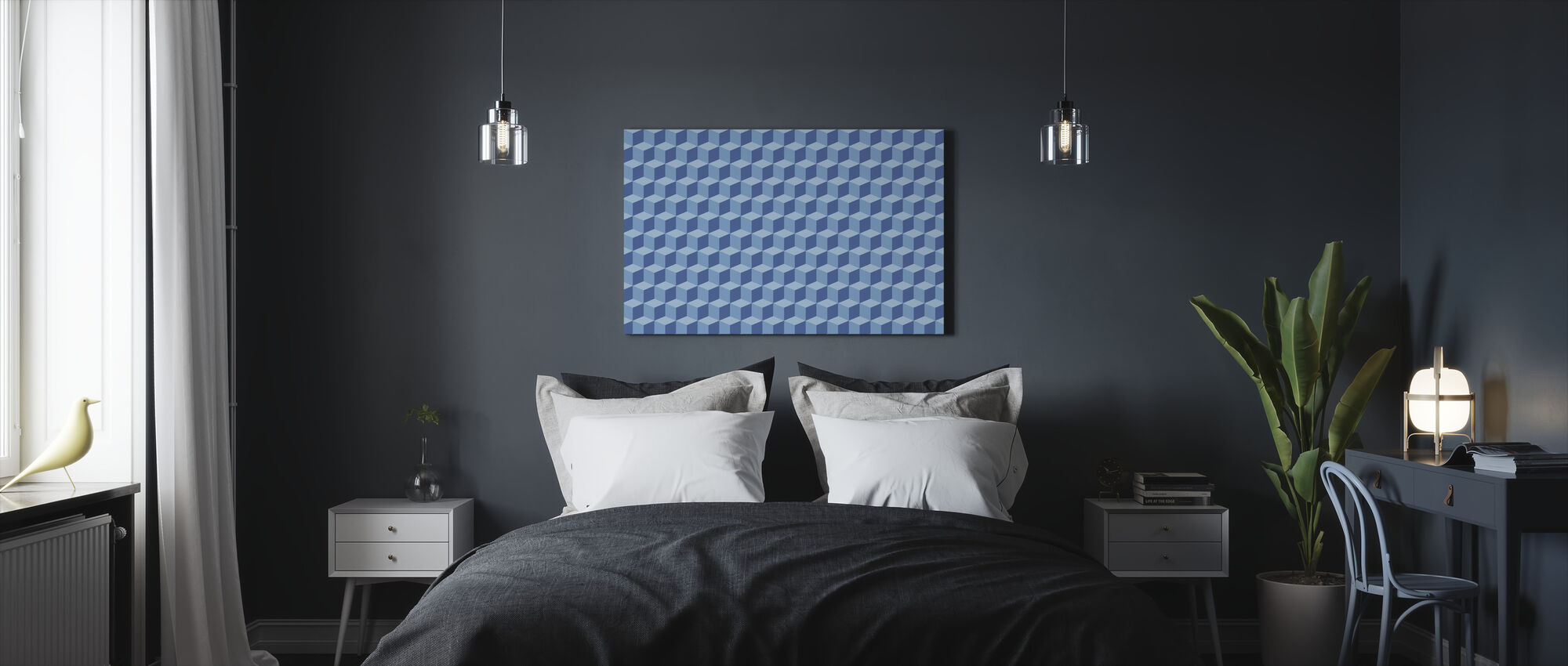 Wall of Boxes - Canvas print - Bedroom
