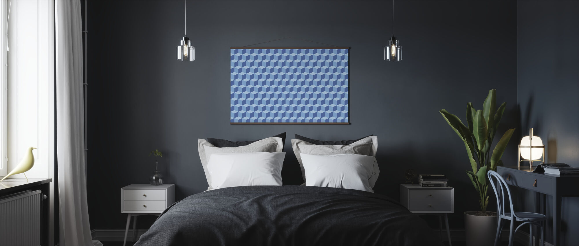 Wall of Boxes - Poster - Bedroom