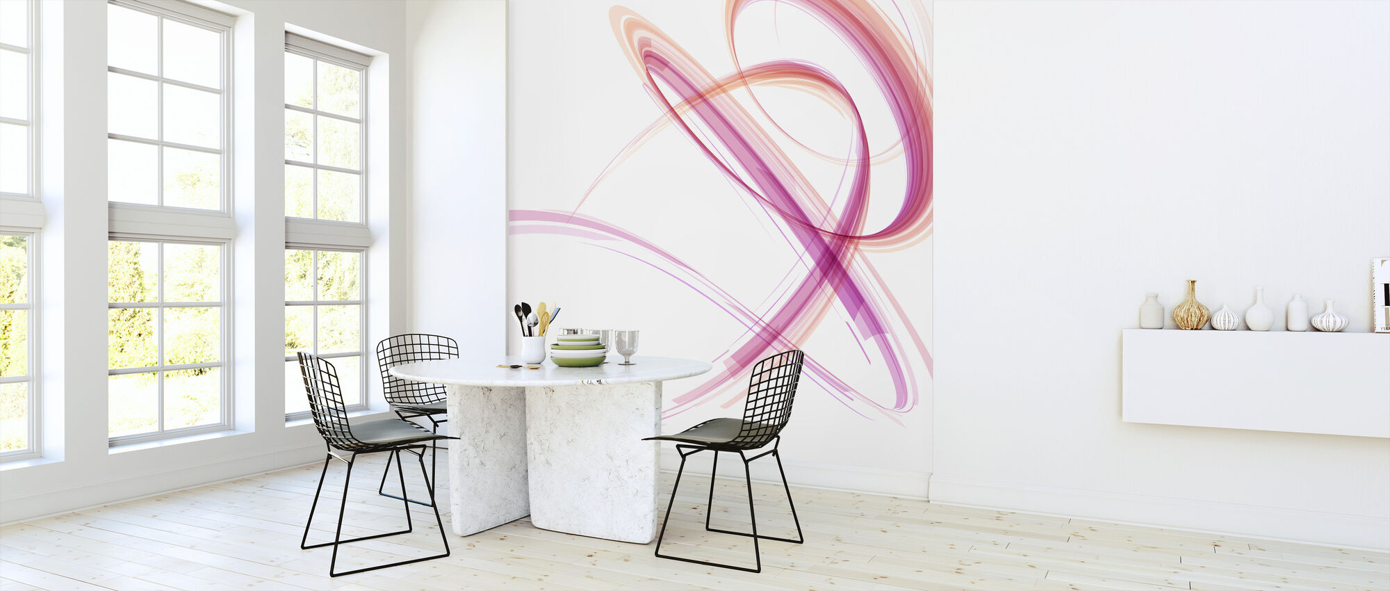Pink Spiral - Wallpaper - Kitchen