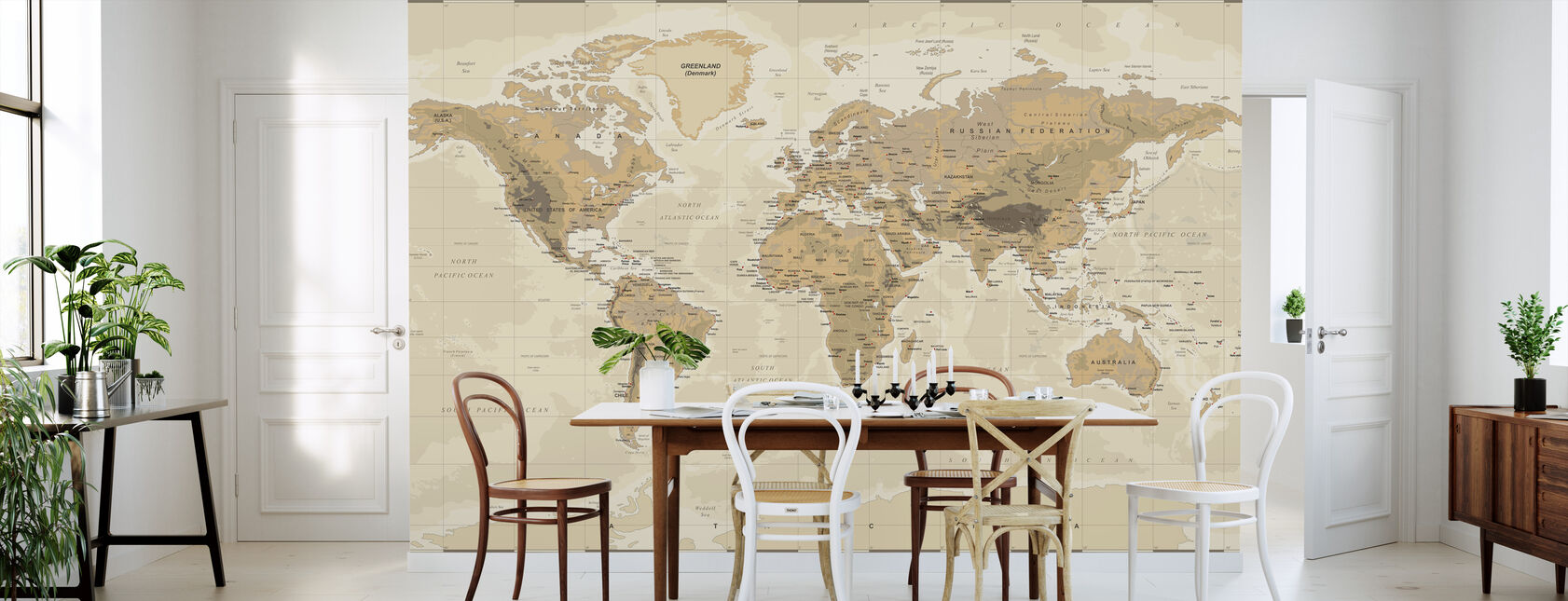 Full Wall World Map.World Maps Trendy Wall Murals Photowall