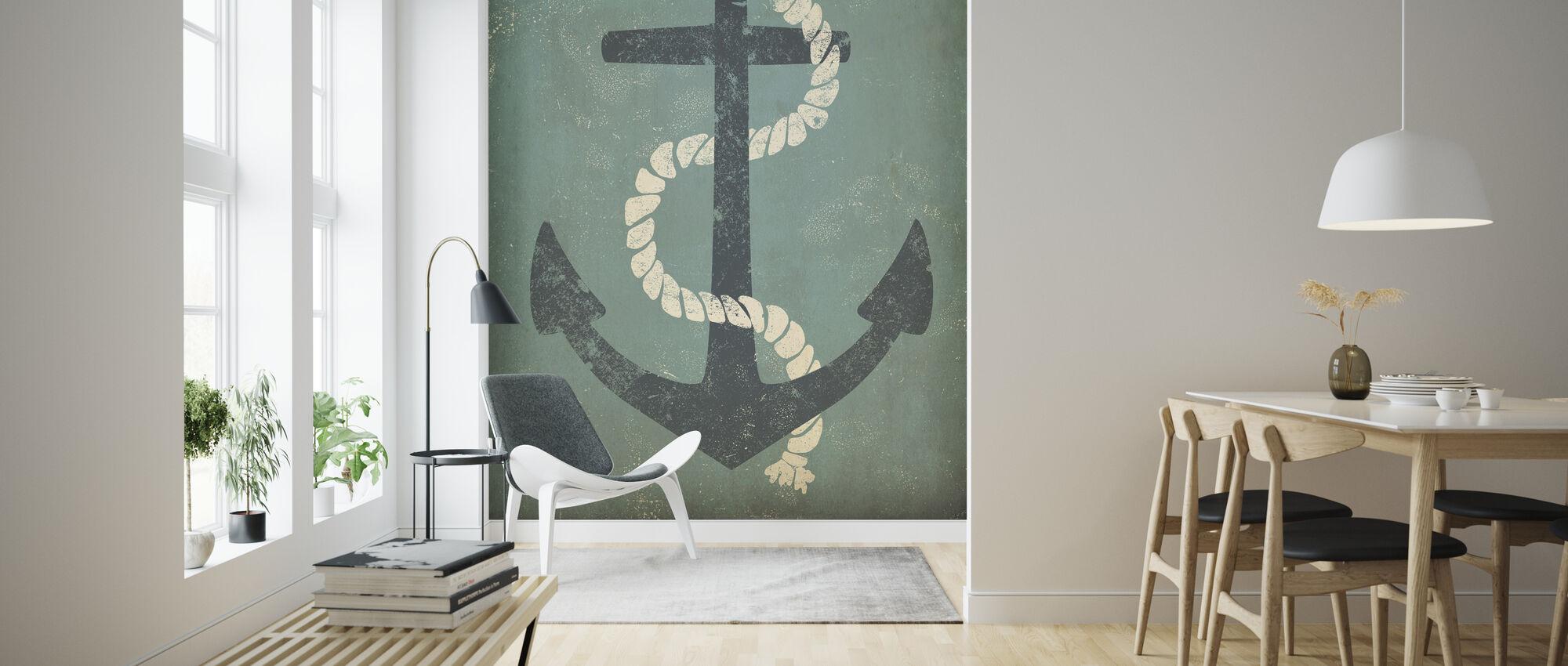 Nautical Anchor - Wallpaper - Living Room