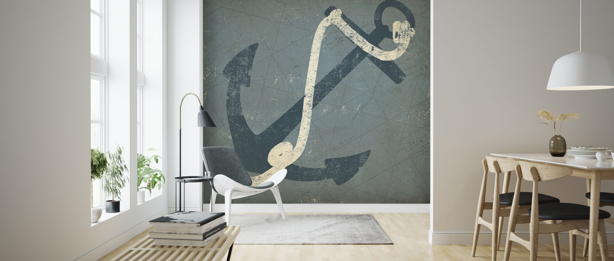 Nautical Anchor 1 - Wallpaper - Living Room