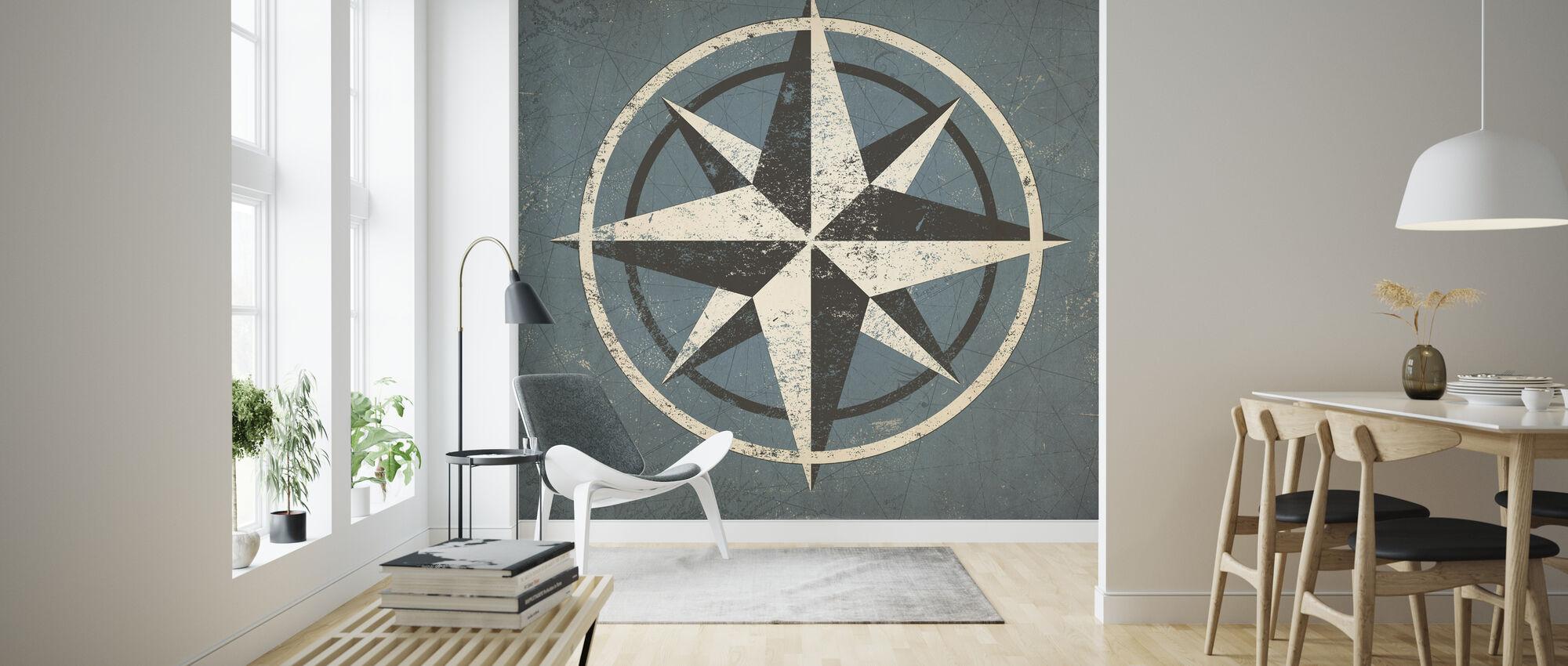 Nautisk kompass - Tapet - Stue
