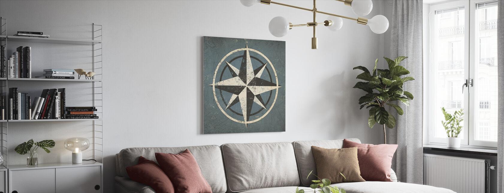 Nautisch kompas - Canvas print - Woonkamer