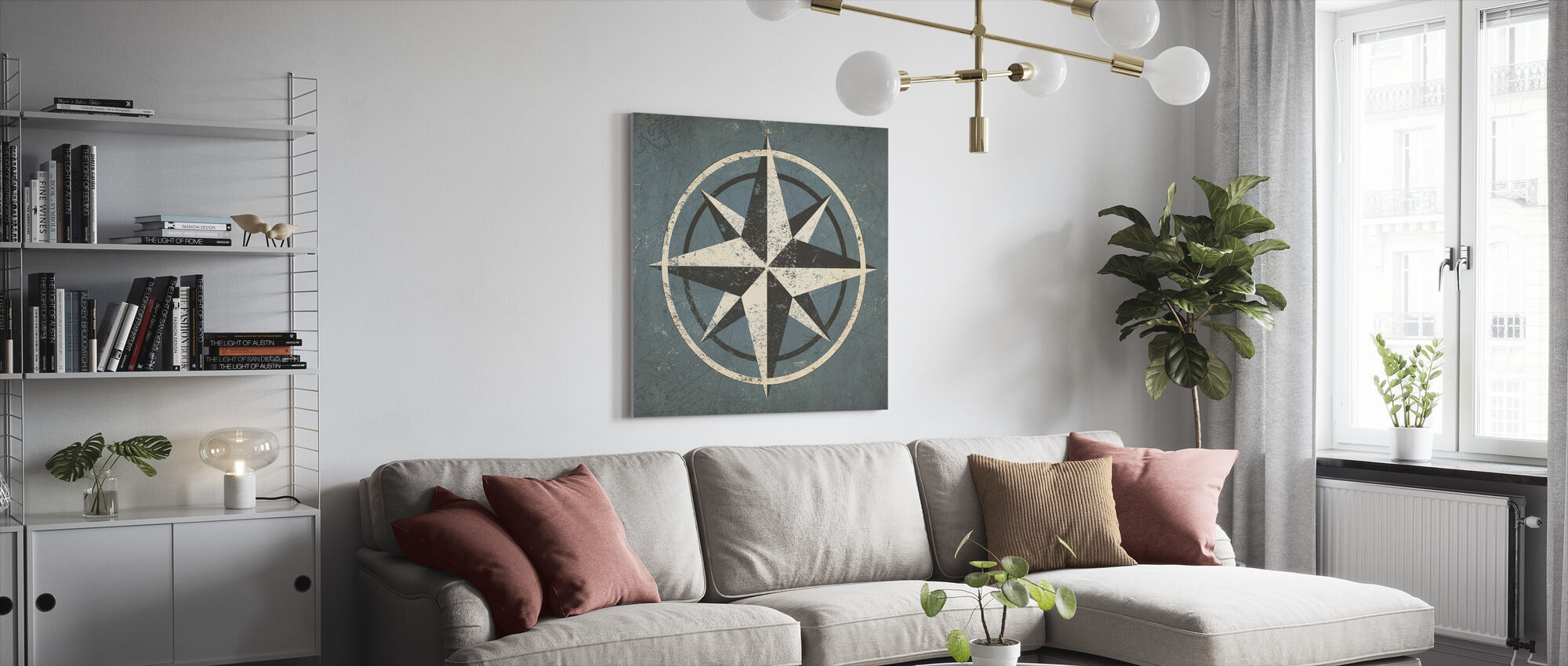 Nautical Compass - Canvas print - Living Room