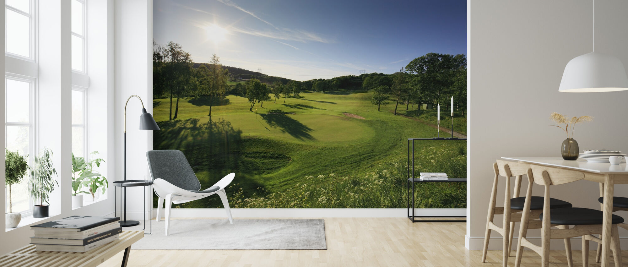 Golfbaan in Göteborg, Zweden - Behang - Woonkamer