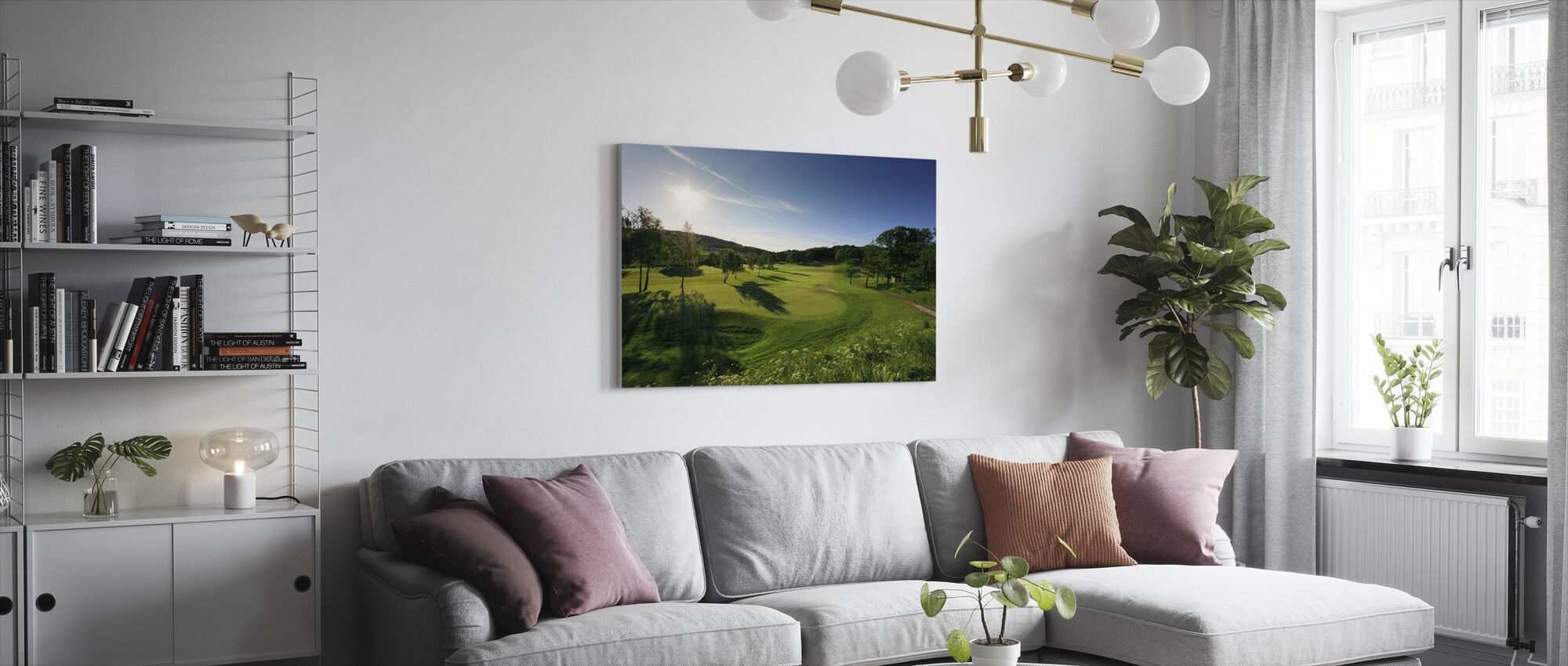 Golf Court in Gothenburg, Sweden - Canvas print - Living Room