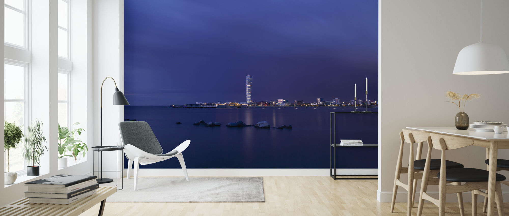 Turning Torso - Malmö Skyline - Wallpaper - Living Room