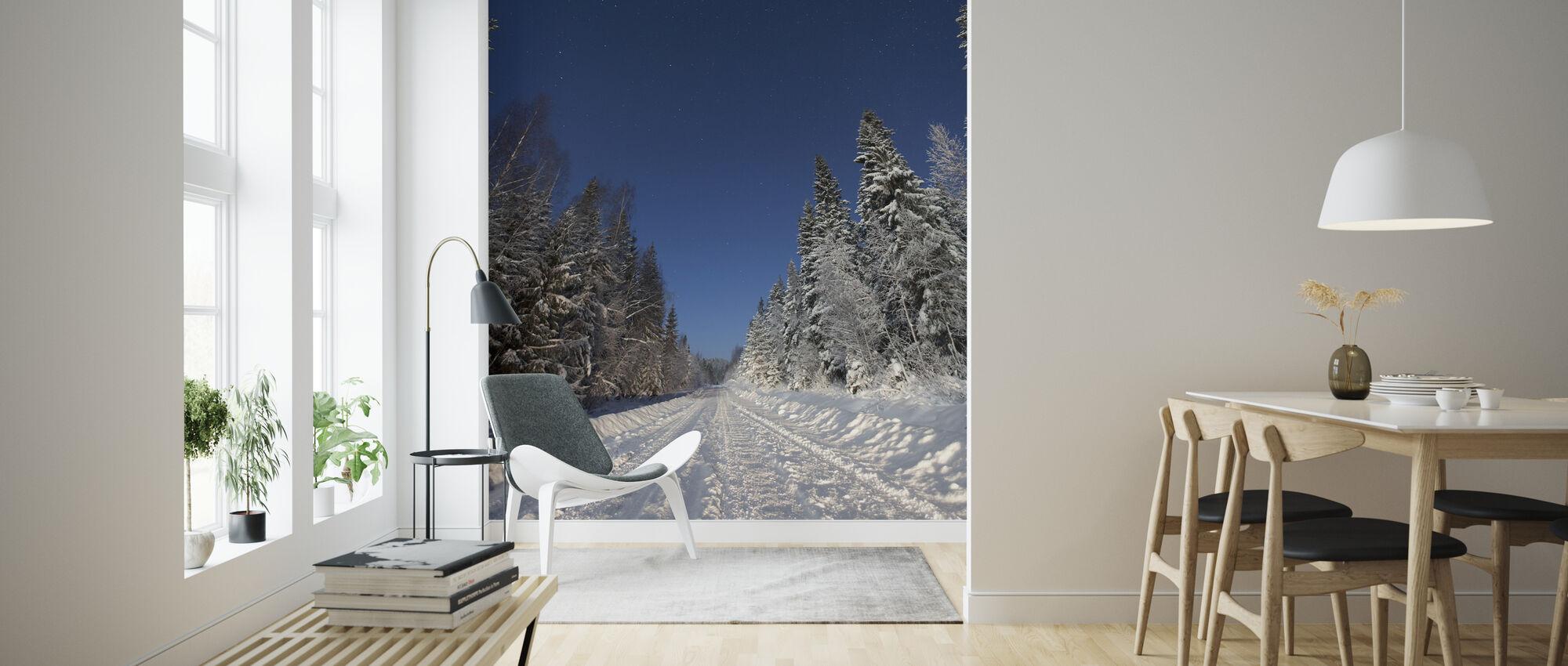 Talvimaisema Mora, Ruotsi - Tapetti - Olohuone