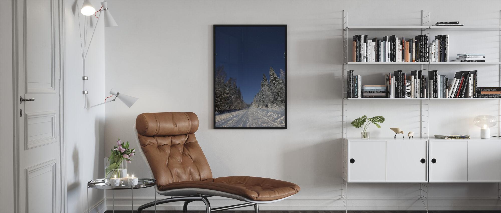 Winter Landscape in Mora, Sweden - Framed print - Living Room