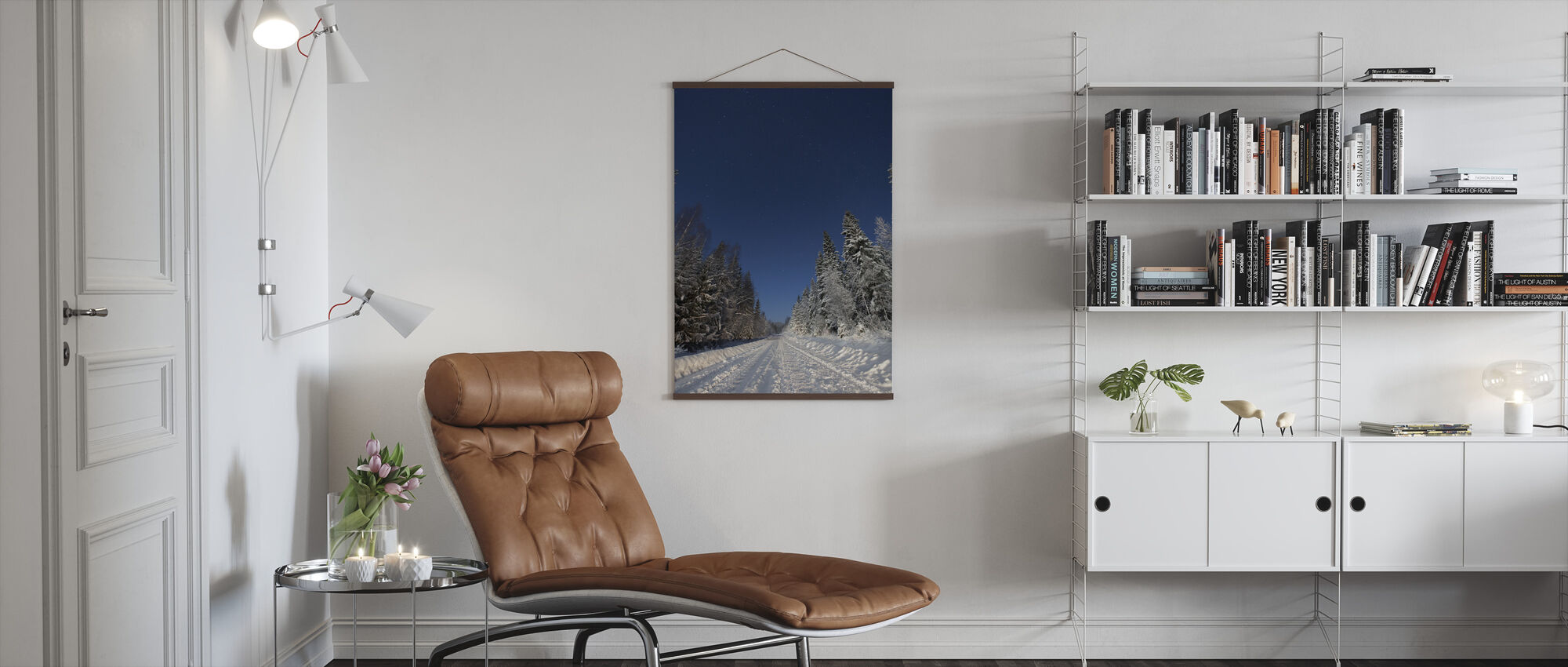 Winter Landscape in Mora, Sweden - Poster - Living Room