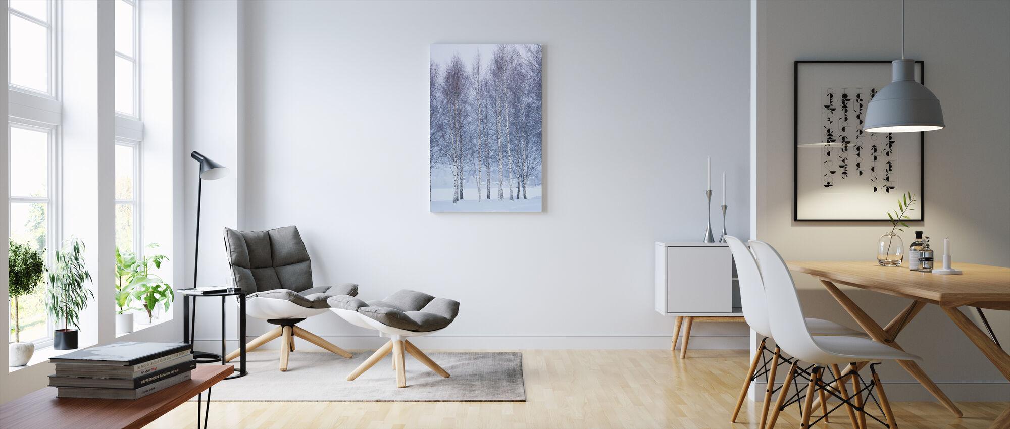 Talvi Koivu Mora, Ruotsi - Canvastaulu - Olohuone
