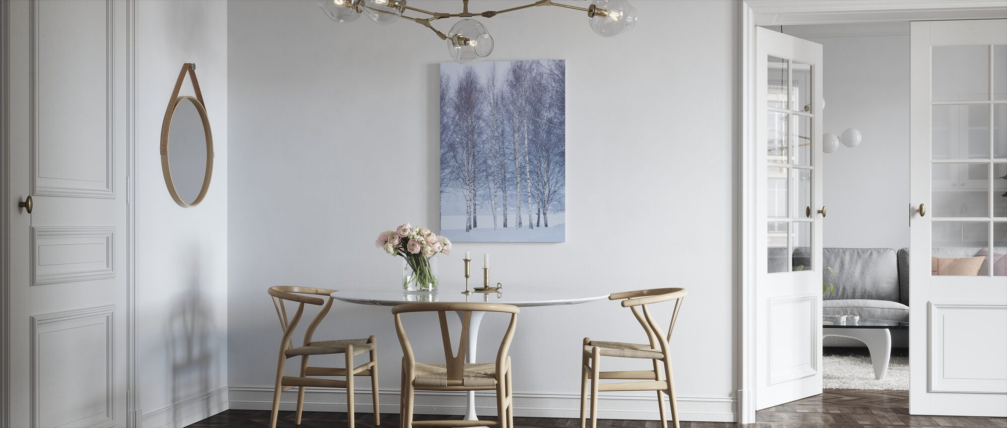 Winter Birch in Mora, Sweden - Canvas print - Kitchen