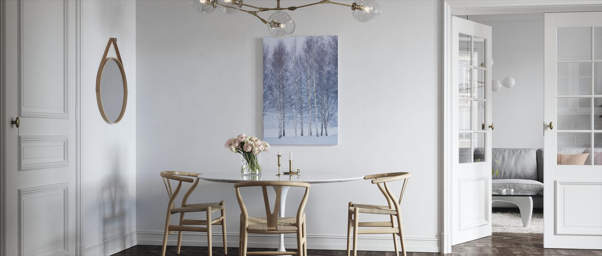 Vinter Birch i Mora, Sverige - Billede på lærred - Køkken