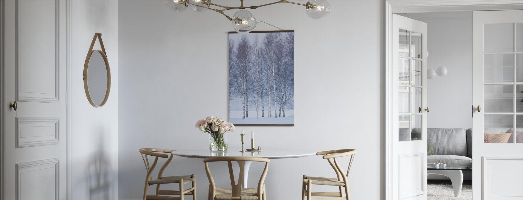Winter Birch in Mora, Sweden - Poster - Kitchen