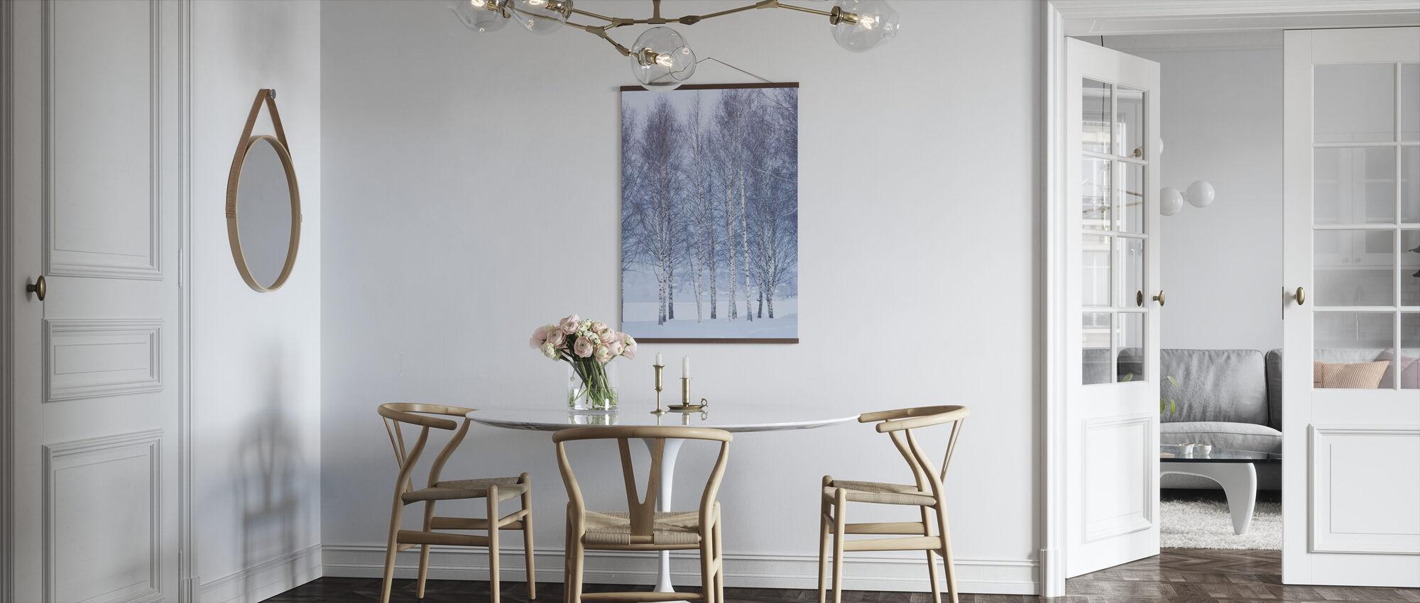 Winter Berk in Mora, Zweden - Poster - Keuken