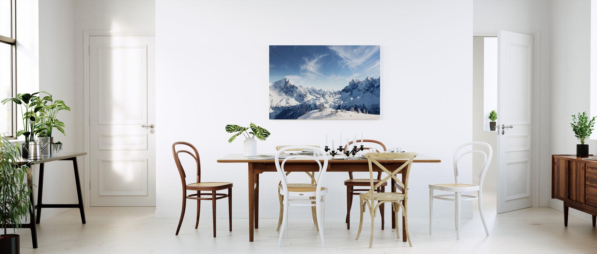Aurinkoiset Alpit Chamonix - Canvastaulu - Keittiö