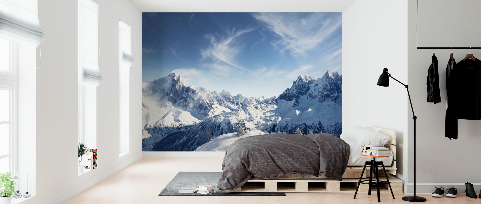 Sunny Alps in Chamonix - Wallpaper - Bedroom