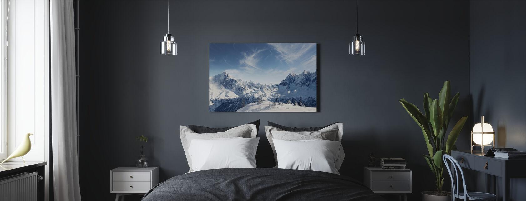 Sunny Alps in Chamonix - Canvas print - Bedroom