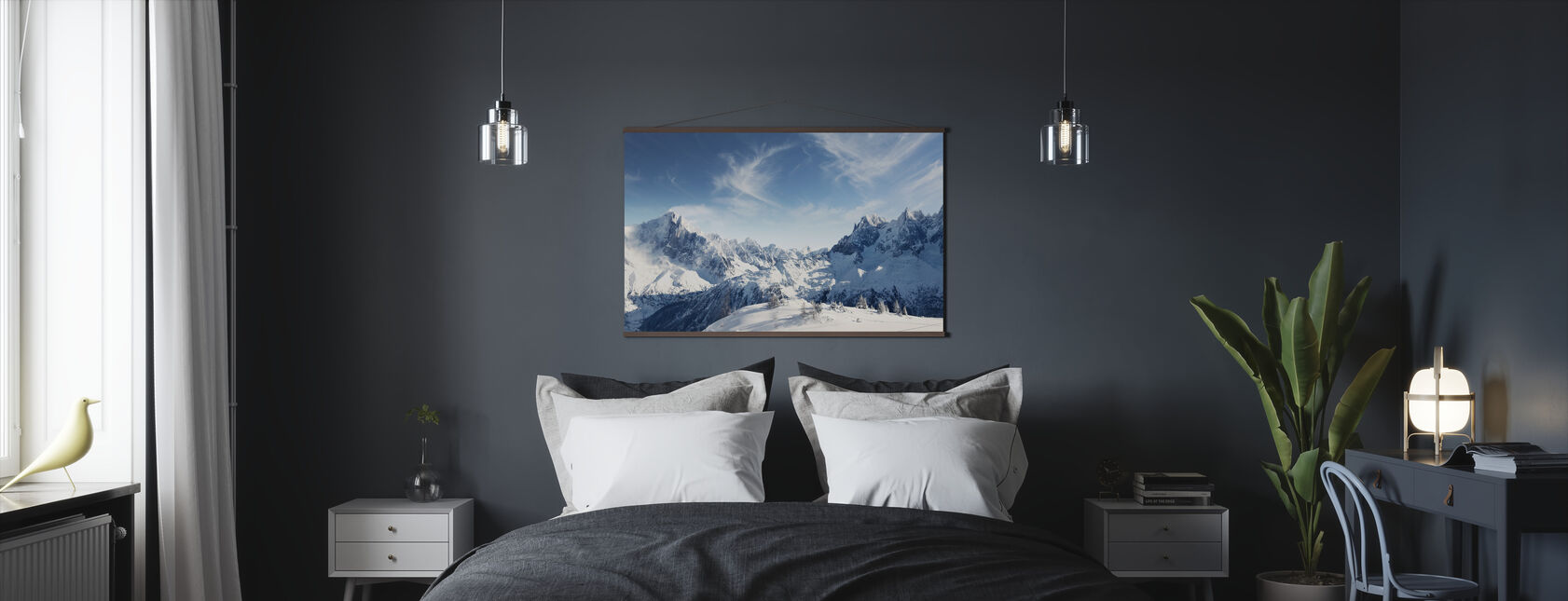Sunny Alps in Chamonix - Poster - Bedroom