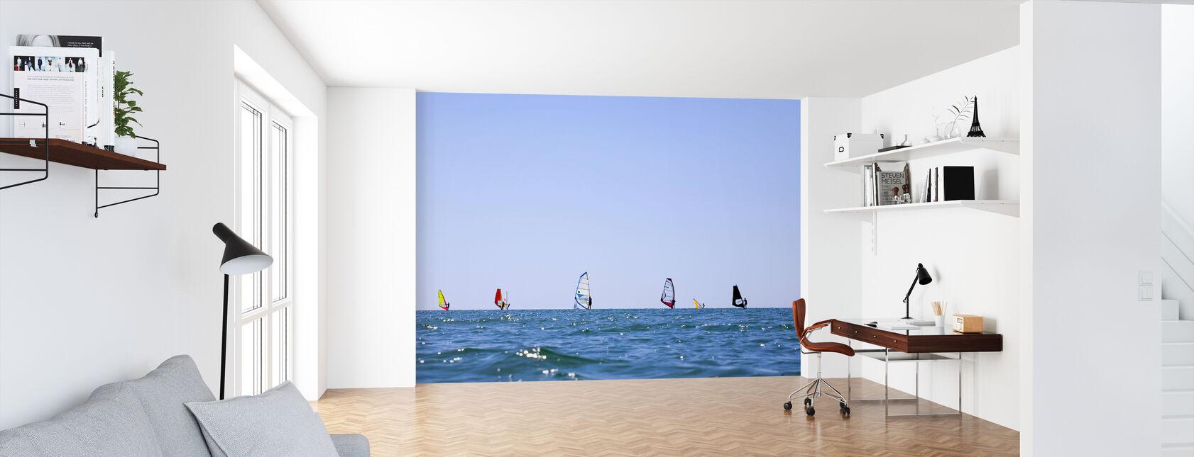 Windsurfing in Varberg, Sweden - Wallpaper - Office