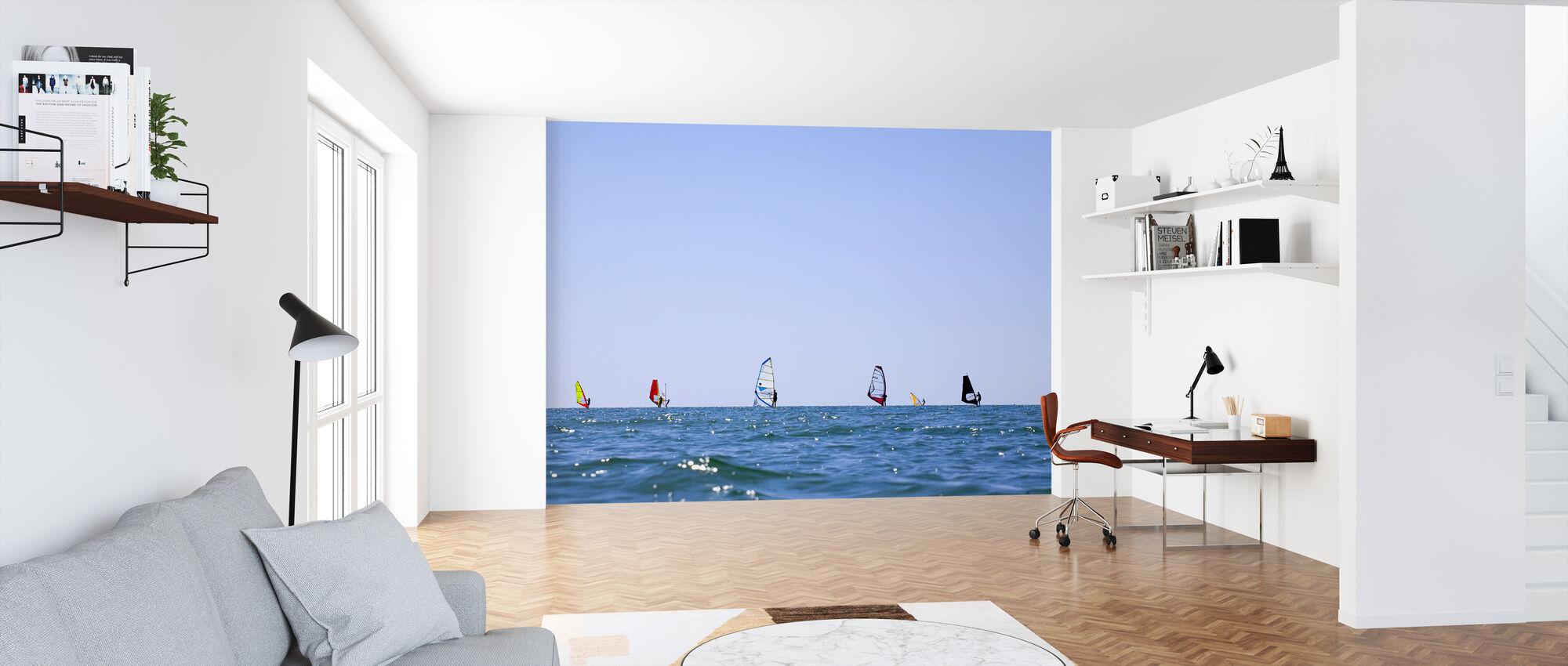 Windsurfen in Varberg, Schweden - Tapete - Büro