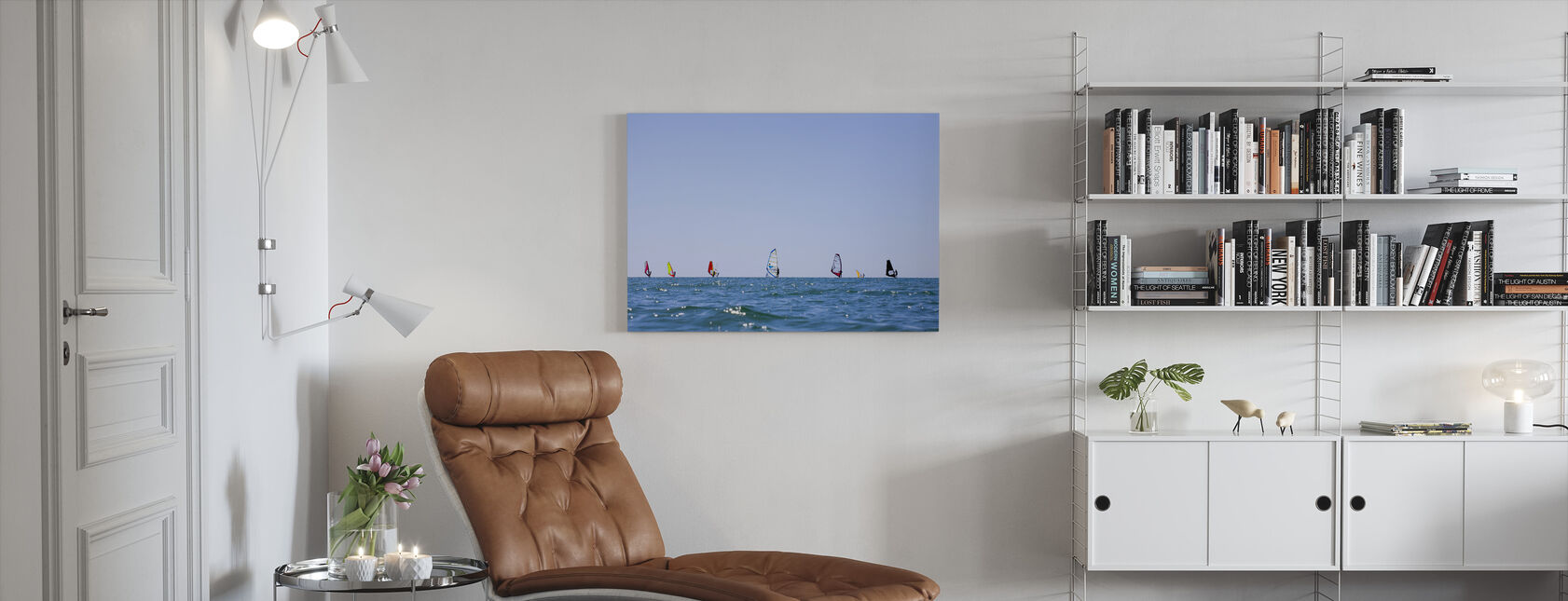 Windsurfing in Varberg, Sweden - Canvas print - Living Room