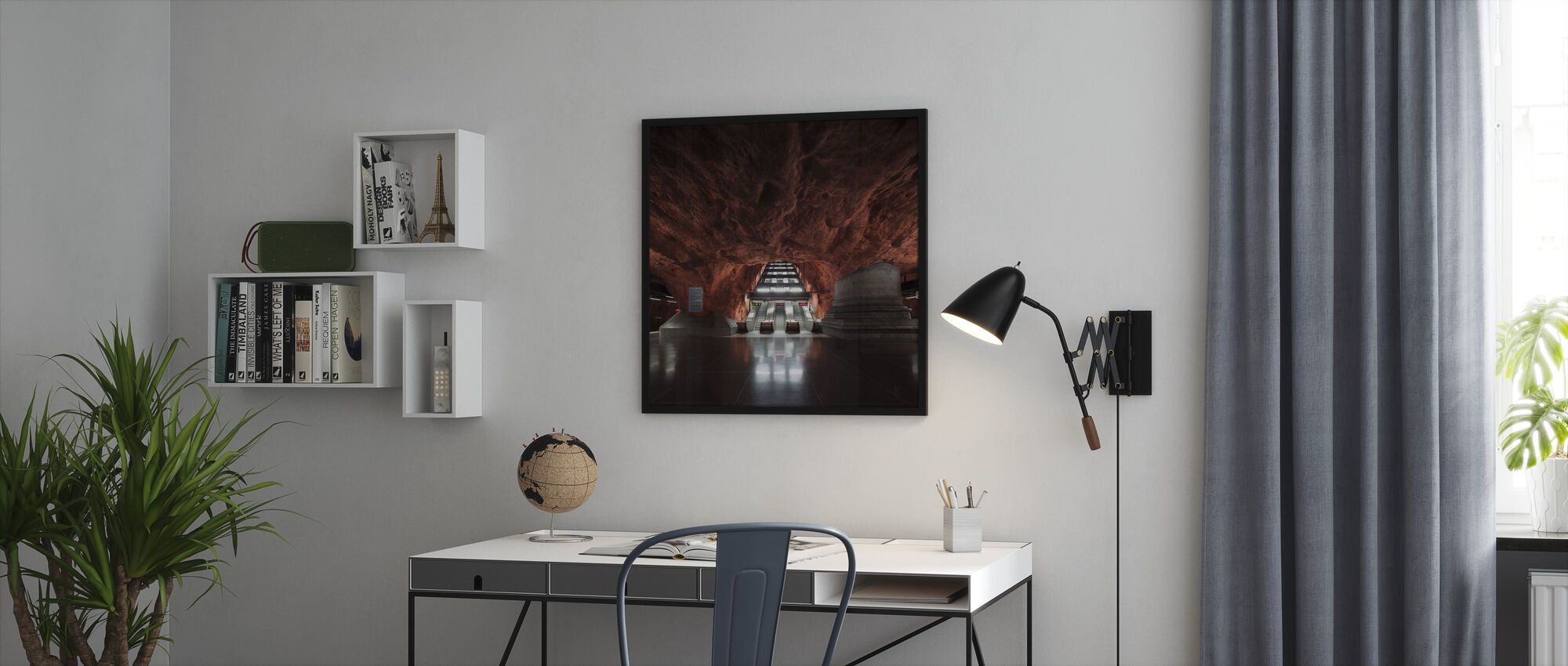 Town Hall Station - Swedish Subway - Framed print - Office