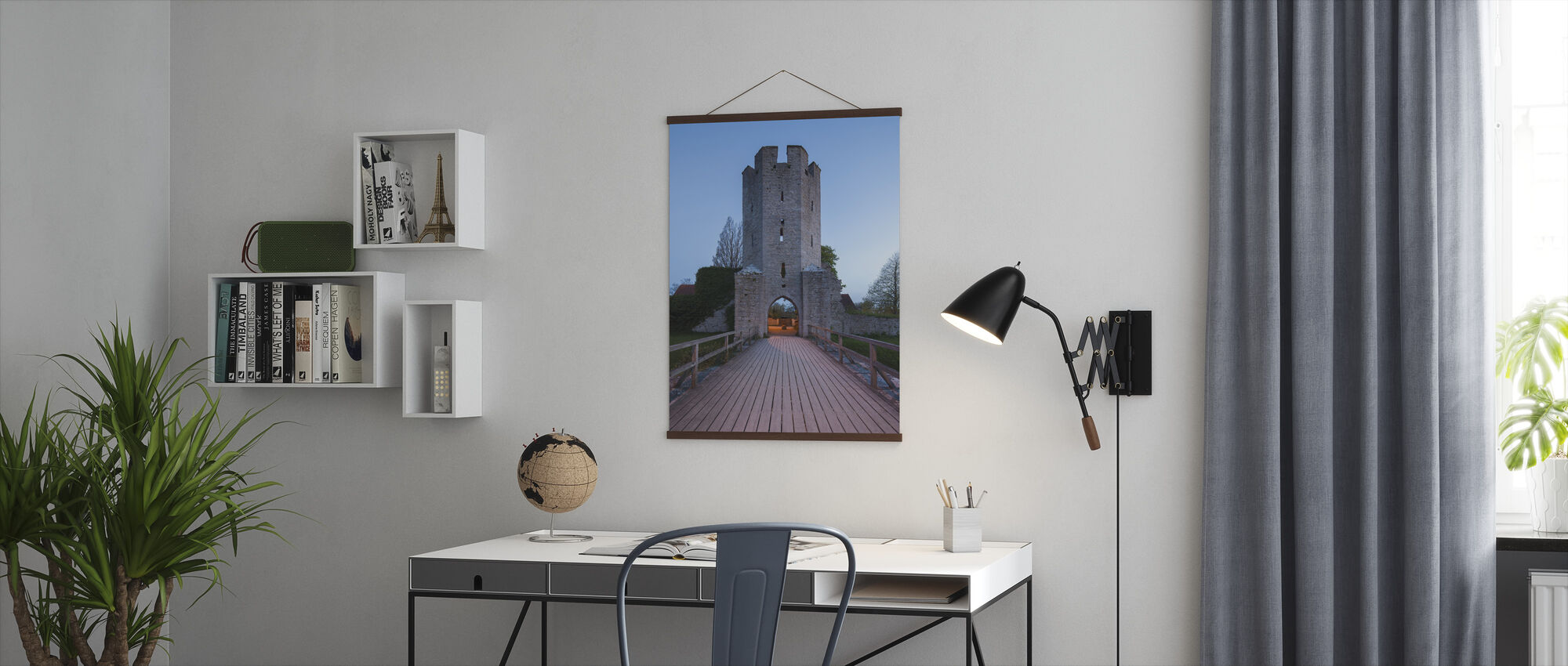 Old Building in Visby, Gotland - Poster - Office