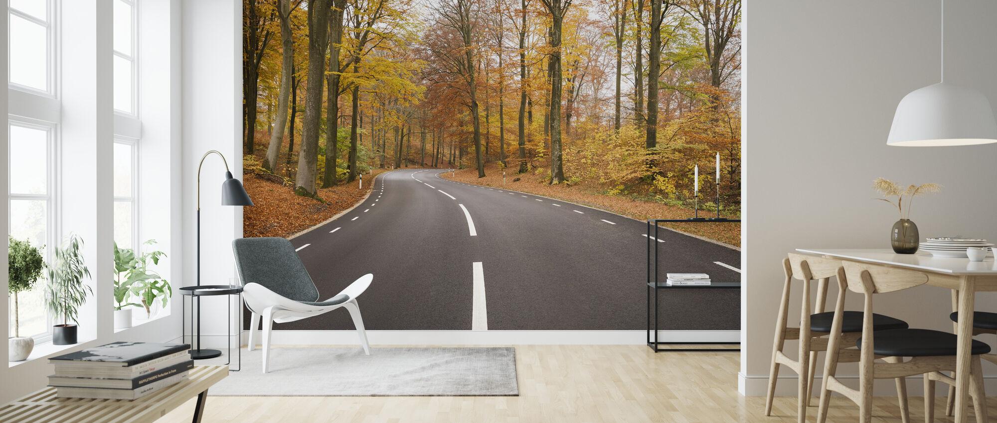 Autumn Road in Röstånga, Sweden - Wallpaper - Living Room