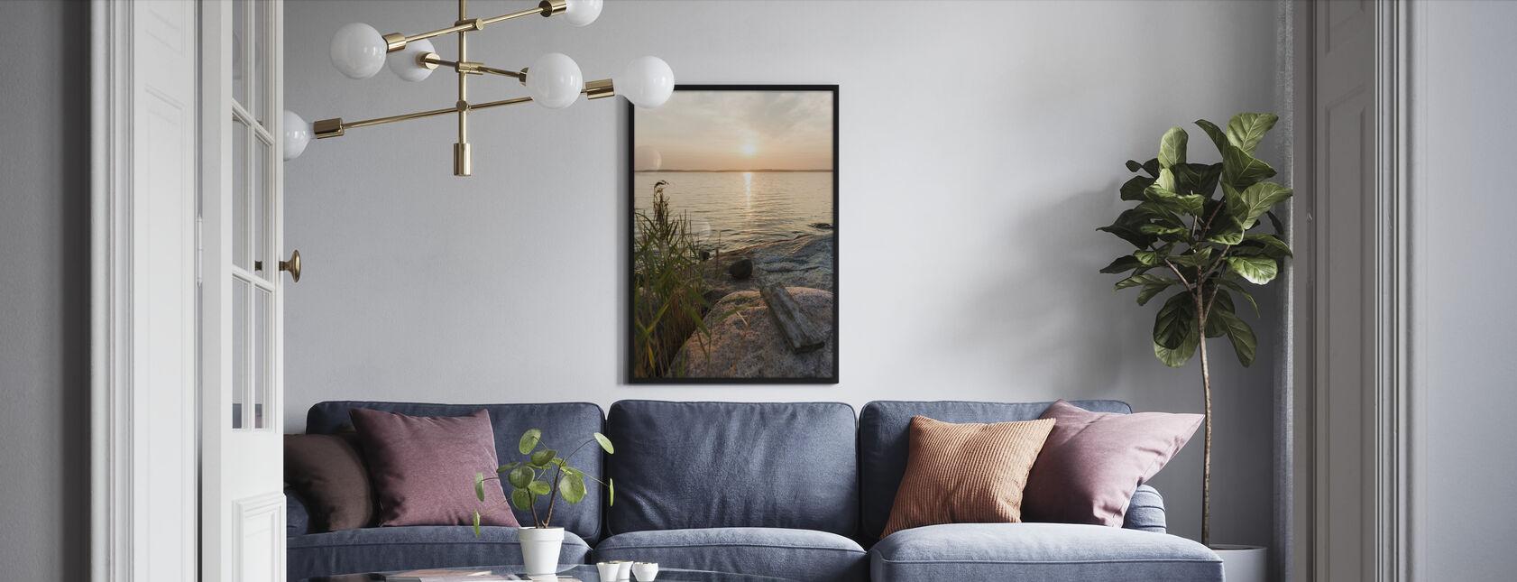 Sunset over Nässlingen, Sweden - Inramad tavla - Vardagsrum