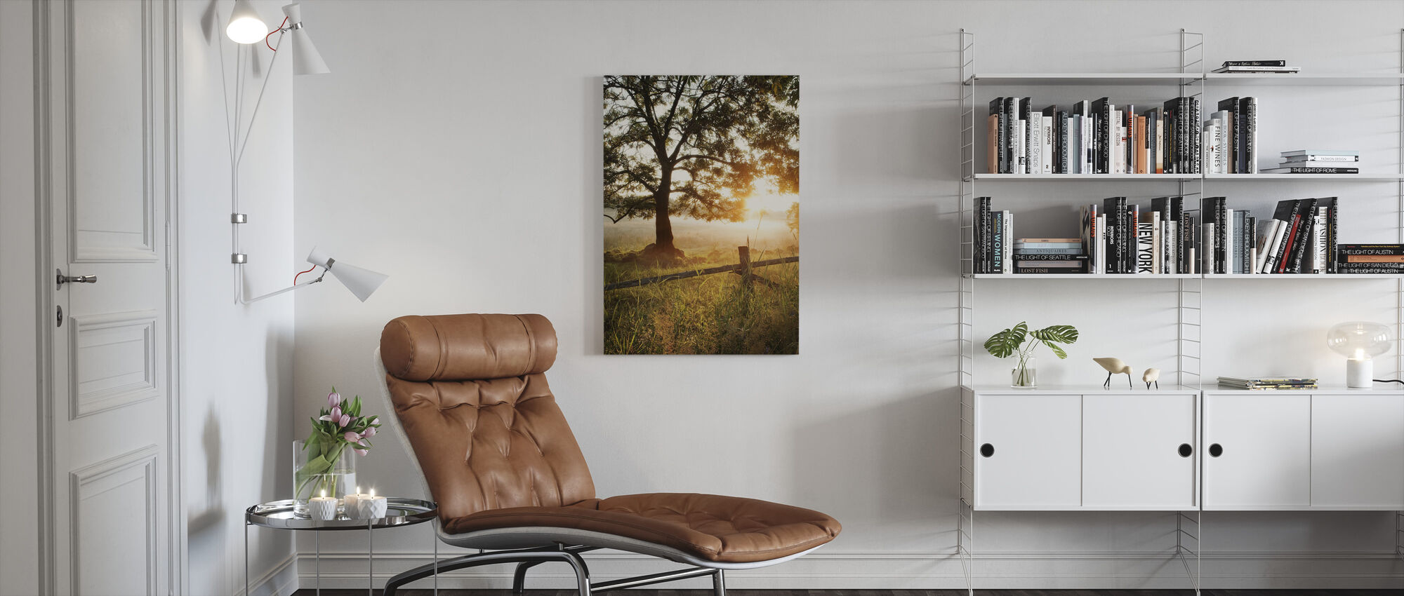 Field in Rönås at Dawn, Sweden - Canvas print - Living Room