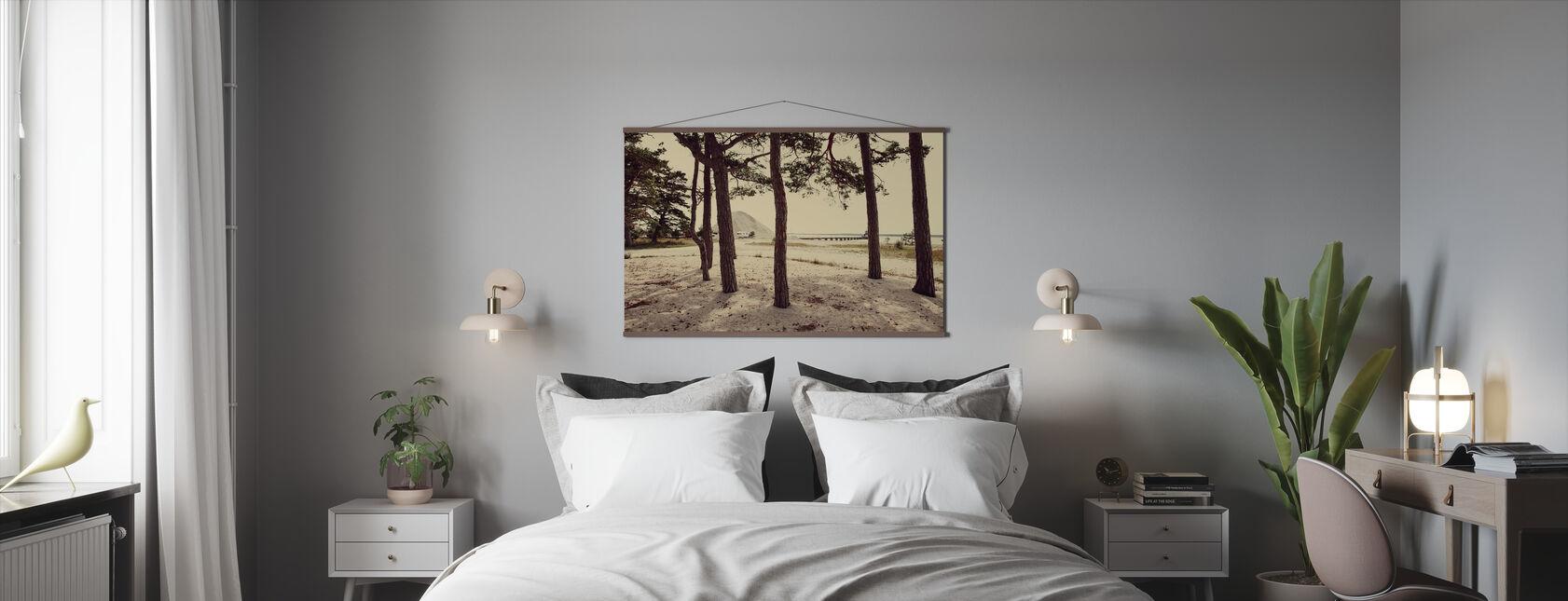 Caravan and Pines in Gotland, Sweden, Europe - Poster - Bedroom