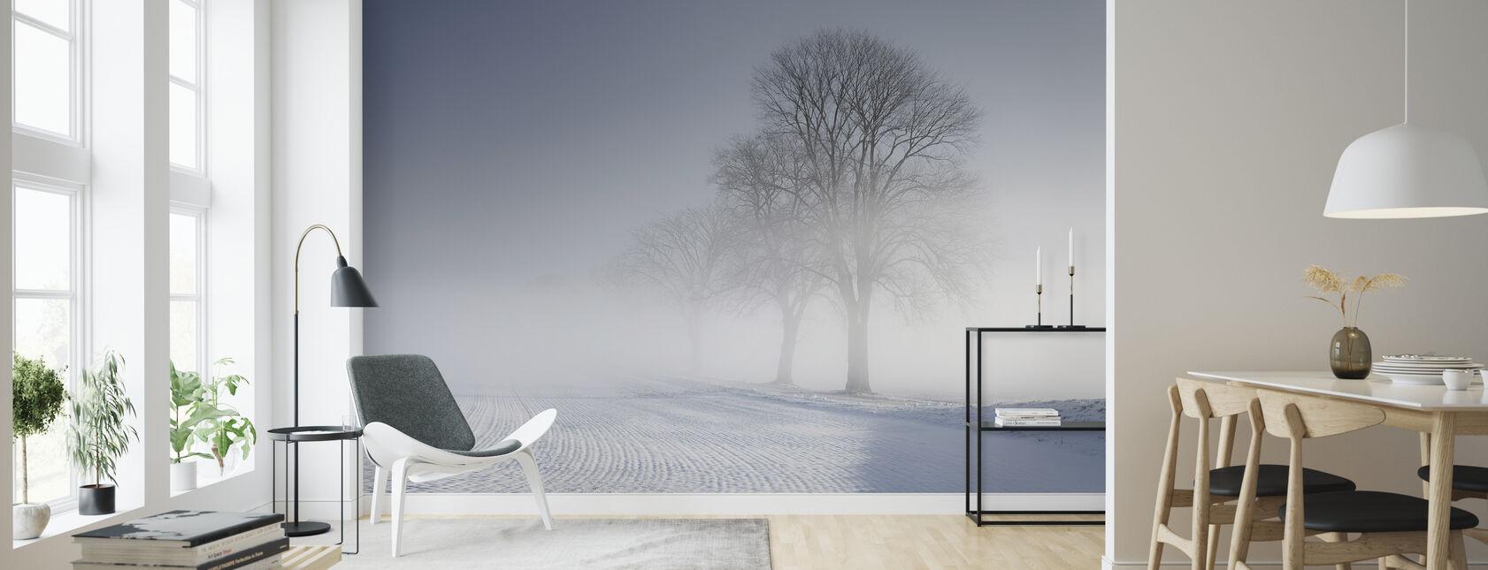 Winter Landscape in Skabersjö, Sweden - Tapet - Vardagsrum