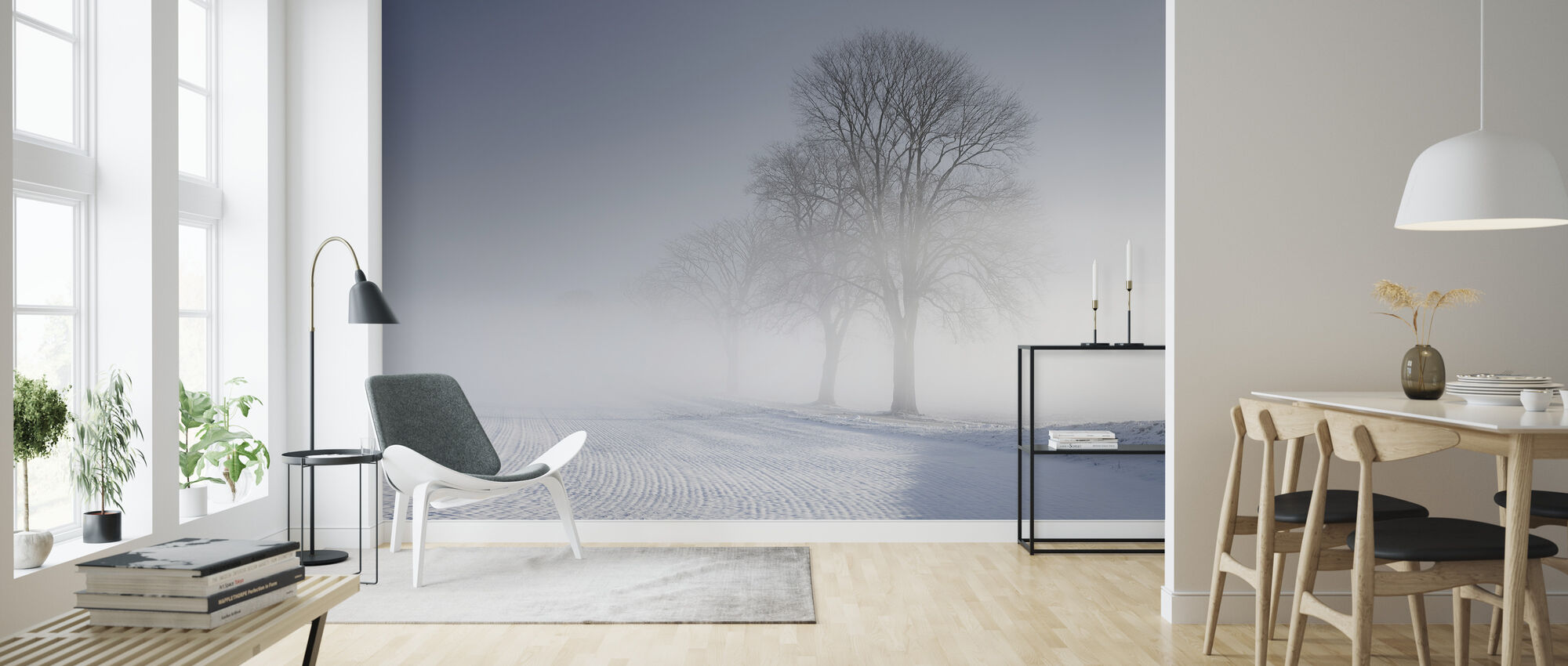 Winter Landscape in Skabersjö, Sweden - Wallpaper - Living Room