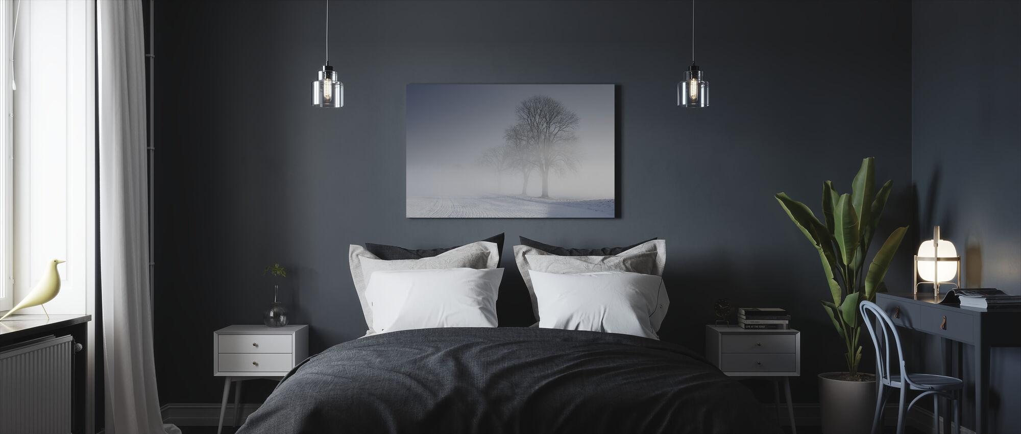 Talvimaisema Skabersjö, Ruotsi - Canvastaulu - Makuuhuone