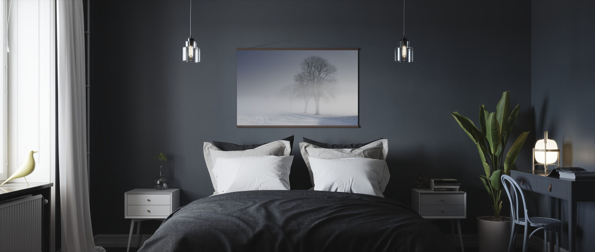 Winter Landscape in Skabersjö, Sweden - Poster - Bedroom