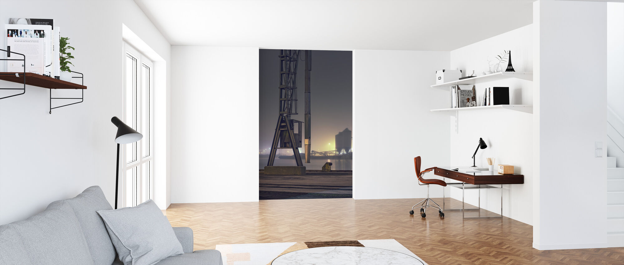 Foggy Harbour in Malmö, Sweden - Wallpaper - Office