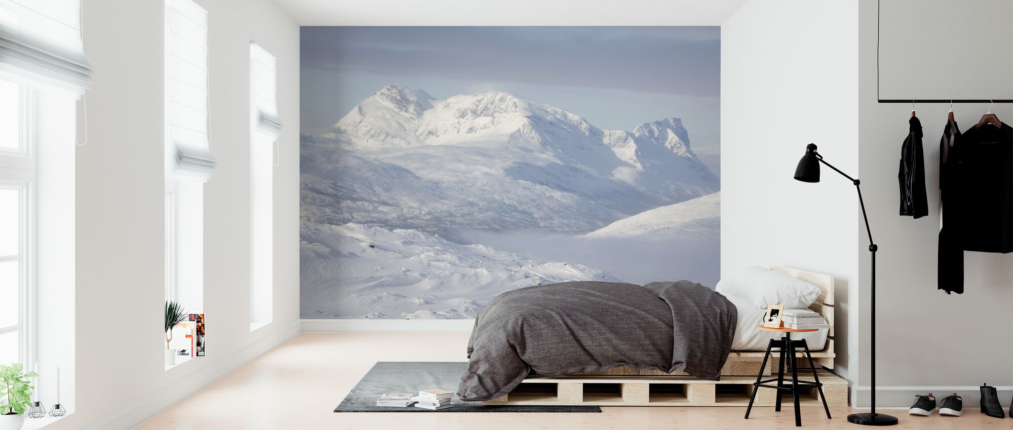 Snowy Mountains in Lapland, Sweden - Wallpaper - Bedroom