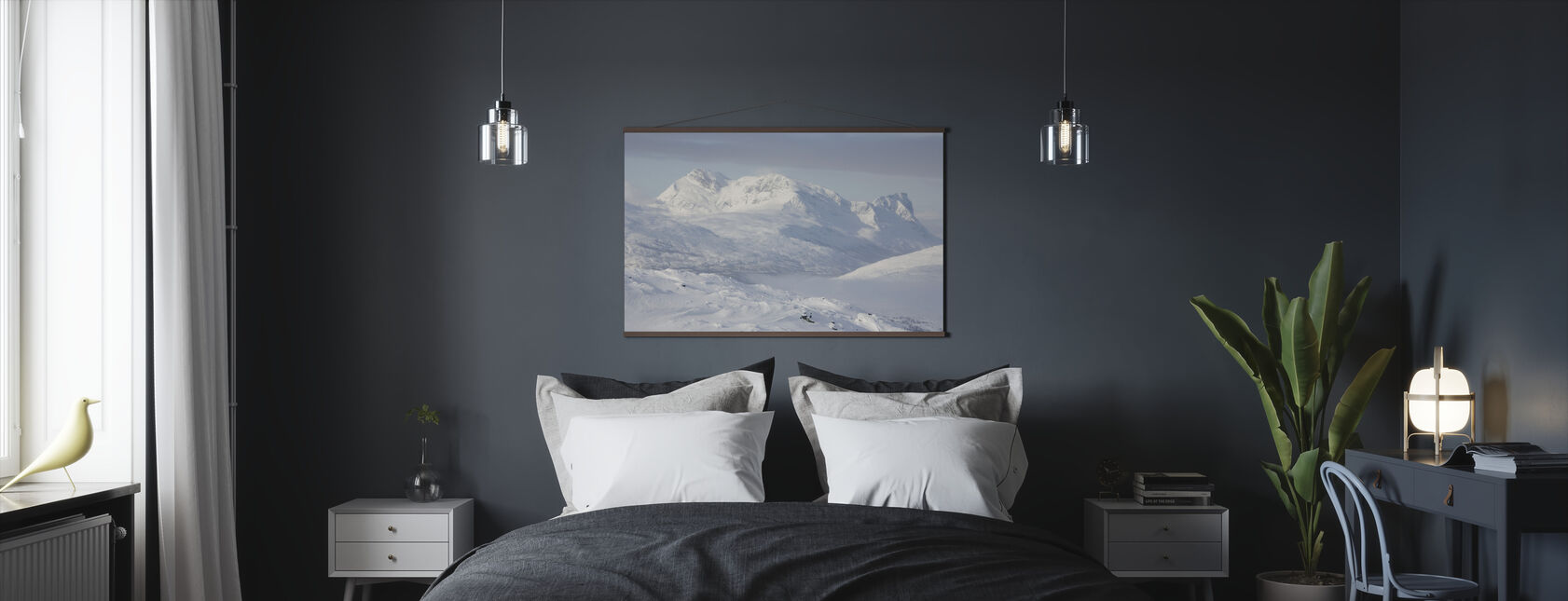 Snowy Mountains in Lapland, Sweden - Poster - Bedroom