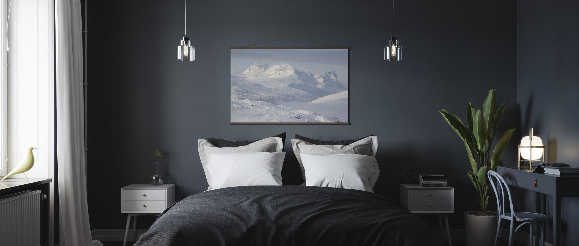 Snødekte Fjell i Lappland, Sverige - Plakat - Soverom