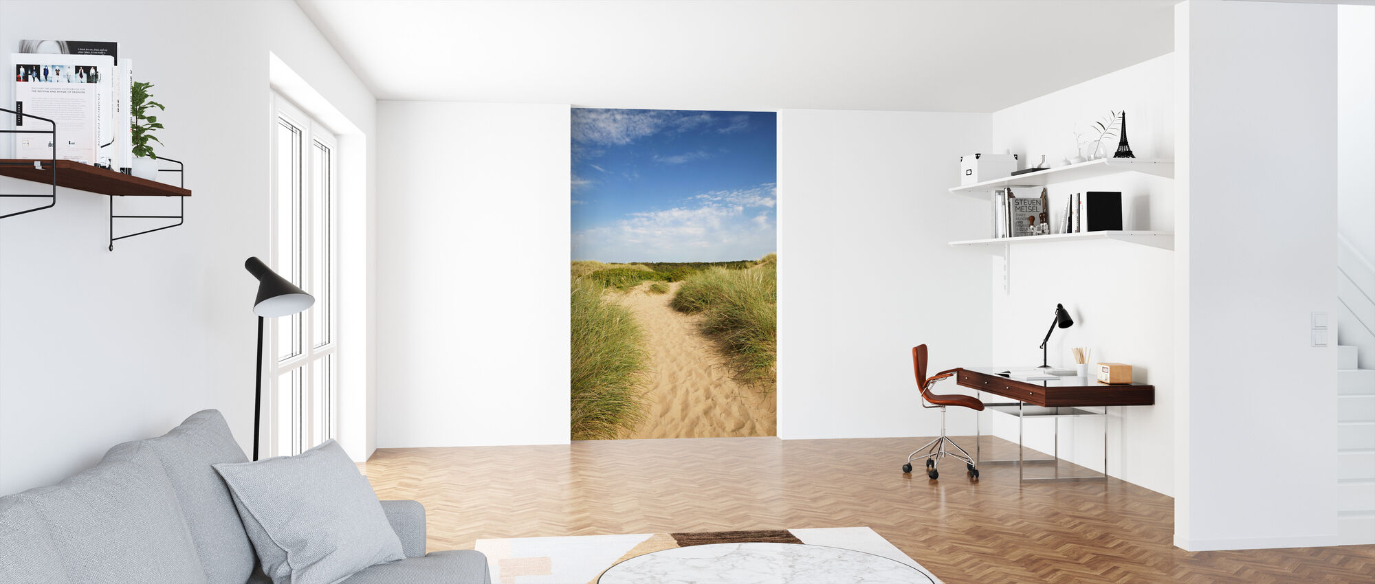 Beach in Tylösand, Sweden - Wallpaper - Office