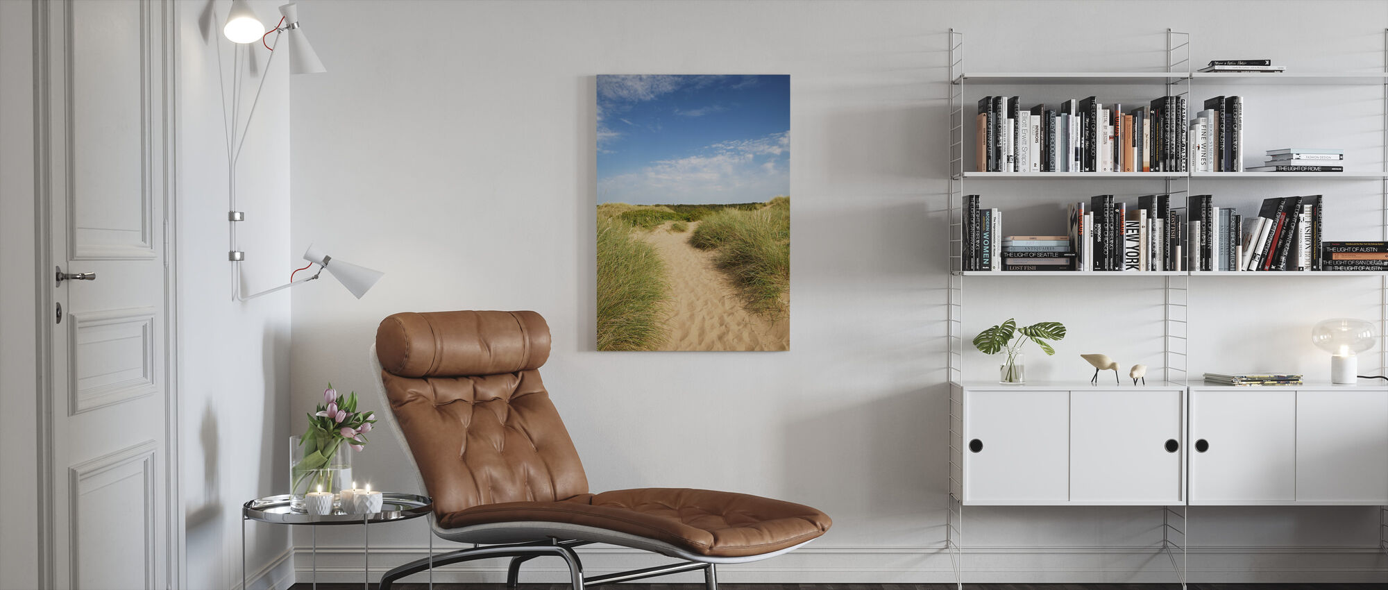 Beach in Tylösand, Sweden - Canvas print - Living Room