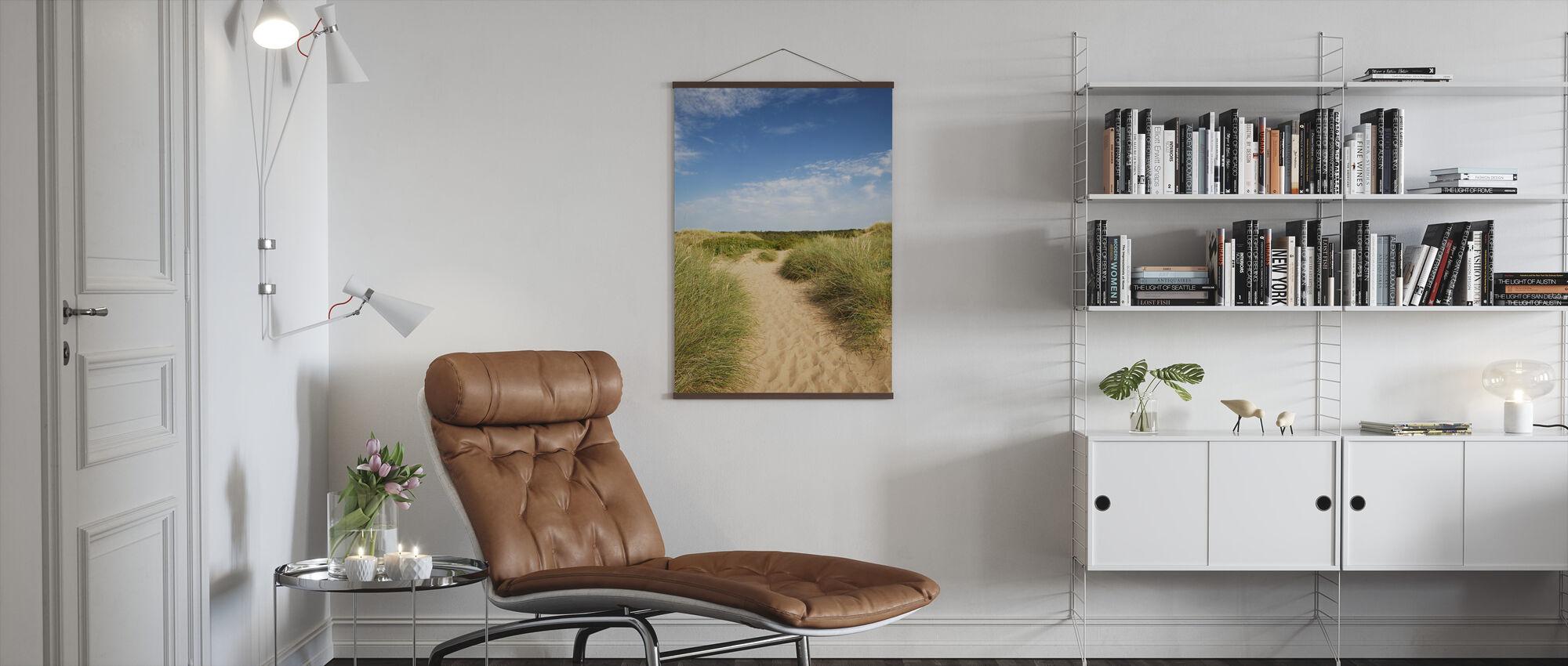 Beach in Tylösand, Sweden - Poster - Living Room