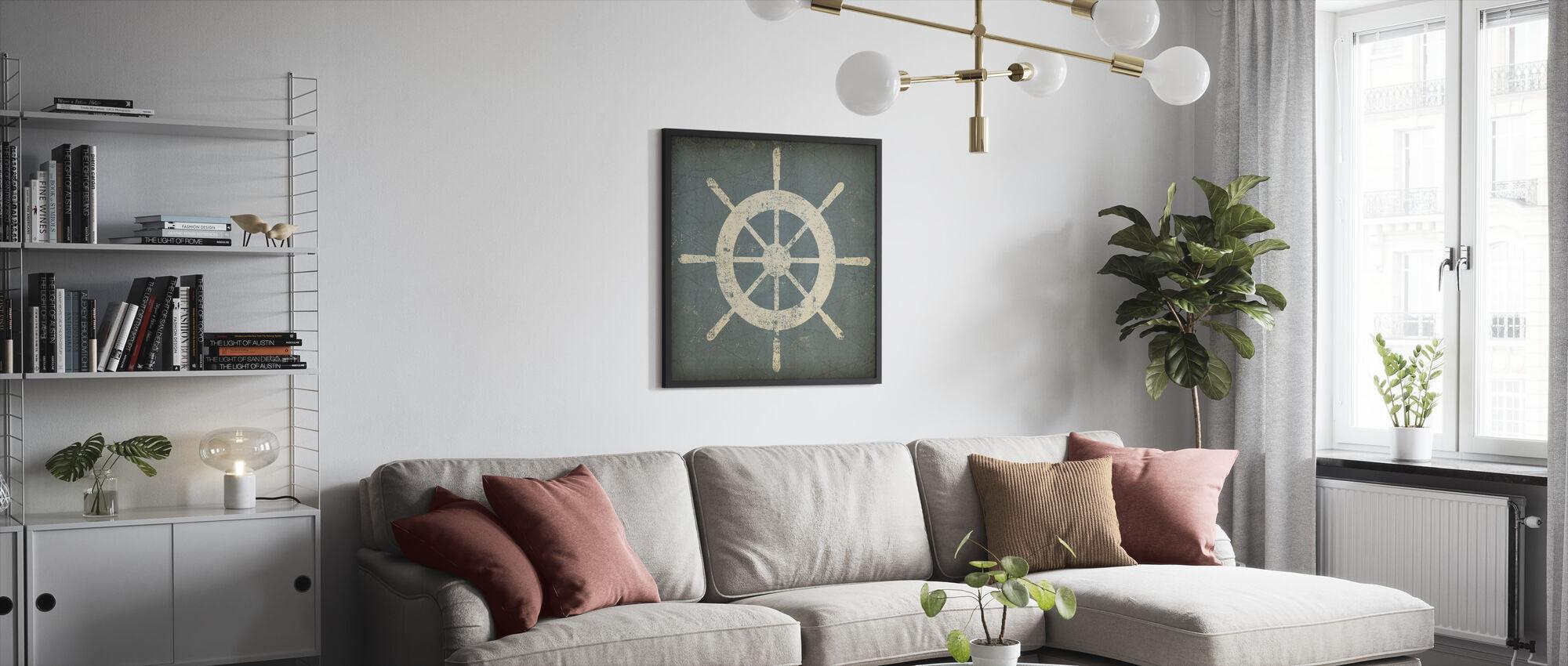 Nautical Shipwheel - Framed print - Living Room