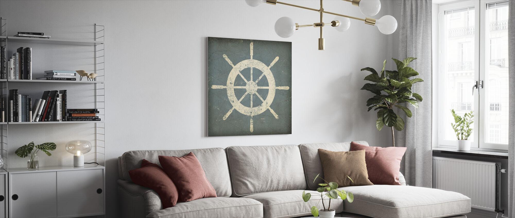 Nautisk skeppshjul - Canvastavla - Vardagsrum