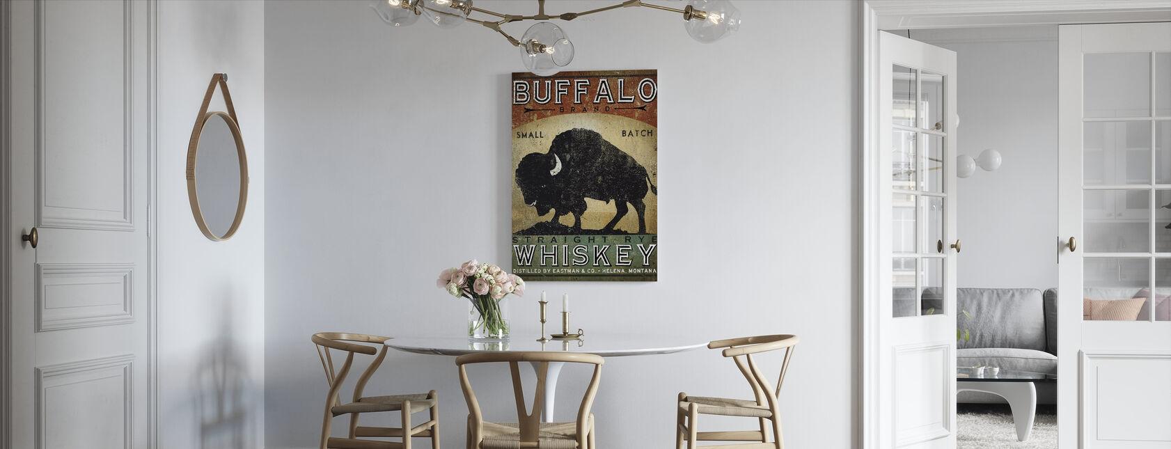 Buffalo Whisky - Billede på lærred - Køkken