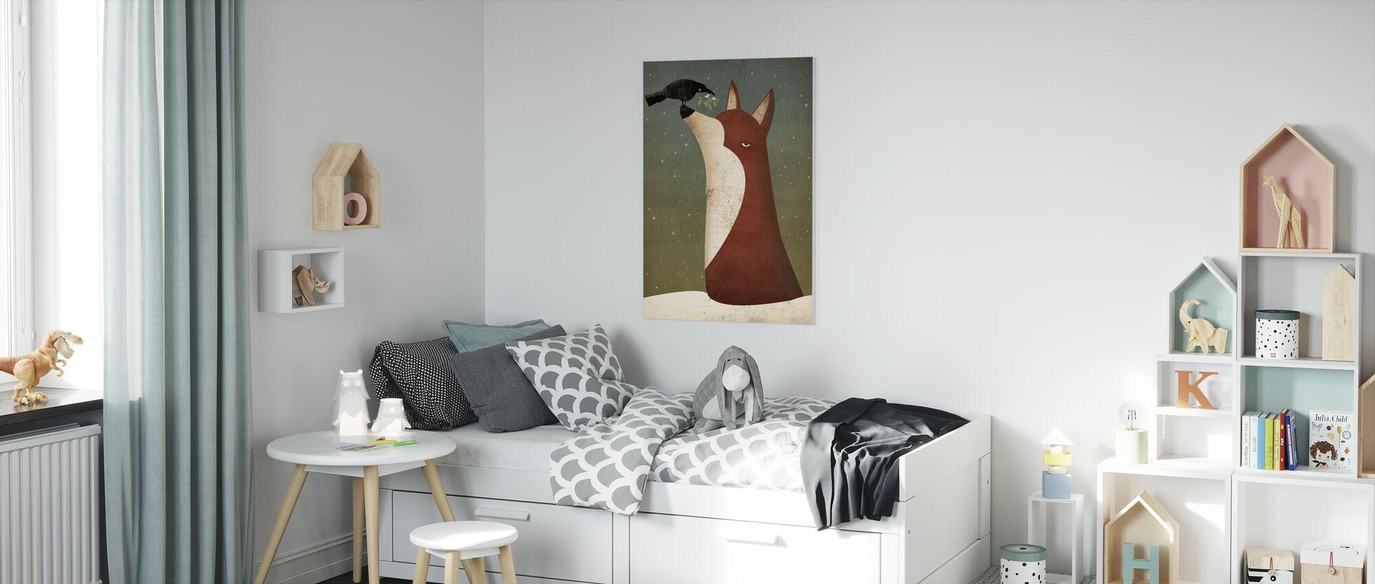 Fox and Mistletoe - Canvas print - Kids Room