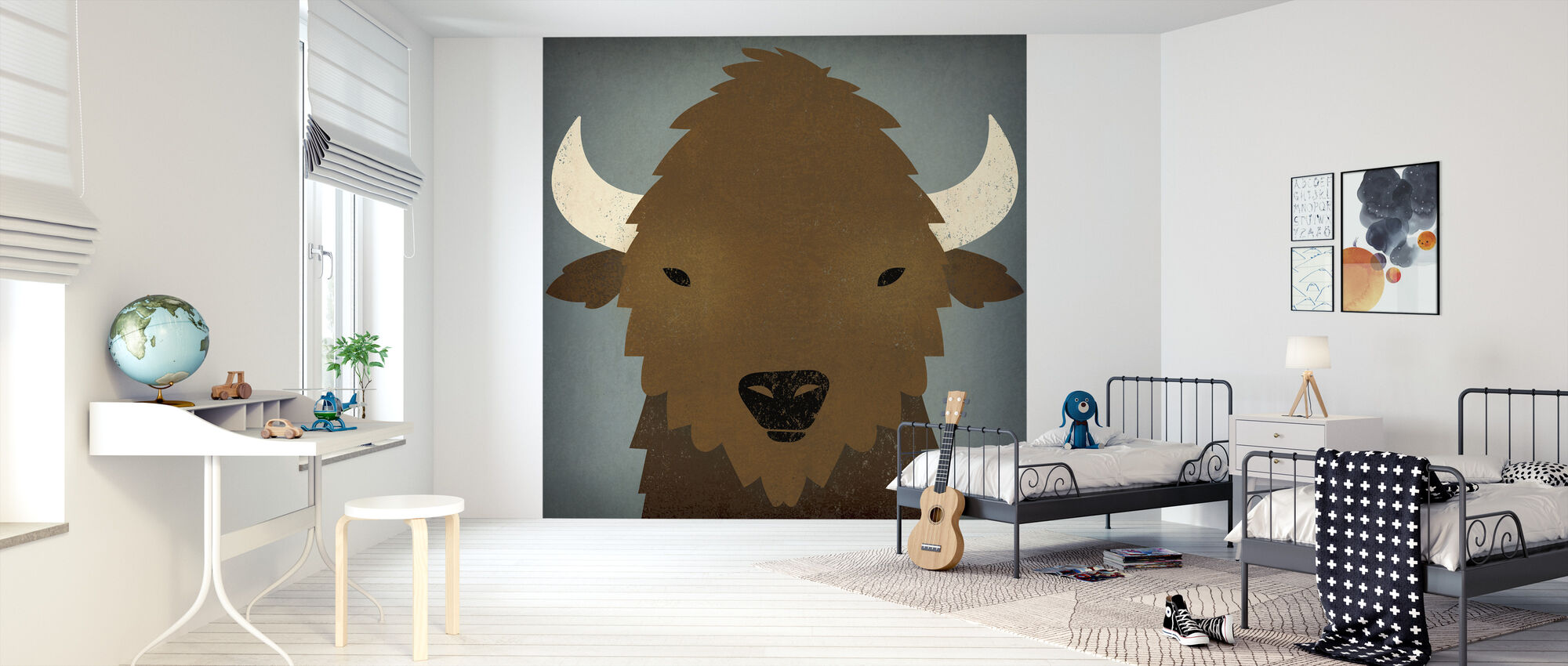 Buffalo Blues - Behang - Kinderkamer